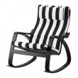 POÄNG Rocking-chair black-brown, STENLI white/black