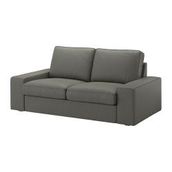 KIVIK Sofá de 2 plazas, BORRED gris-verde