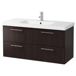GODMORGON/ODENSVIK Armario para lavamanos+4 cajones