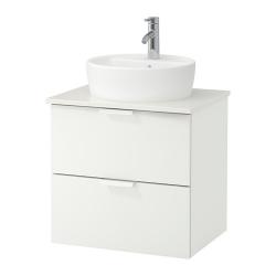 GODMORGON/TOLKEN/TÖRNVIKEN Armario lavabo 60cm + encimera + lavabo