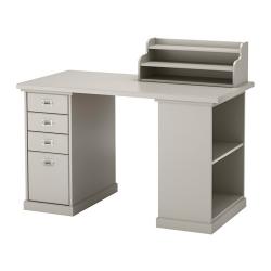 KLIMPEN Mesa de escritorio 120x60 cm con almacenaje y cajonera