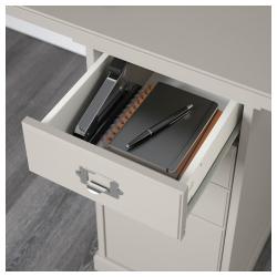 KLIMPEN Mesa de escritorio 240x60 cm con almacenaje y 2 cajoneras