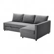 FRIHETEN Sofá cama 3 pl con diván, SKIFTEBO gris ocuro