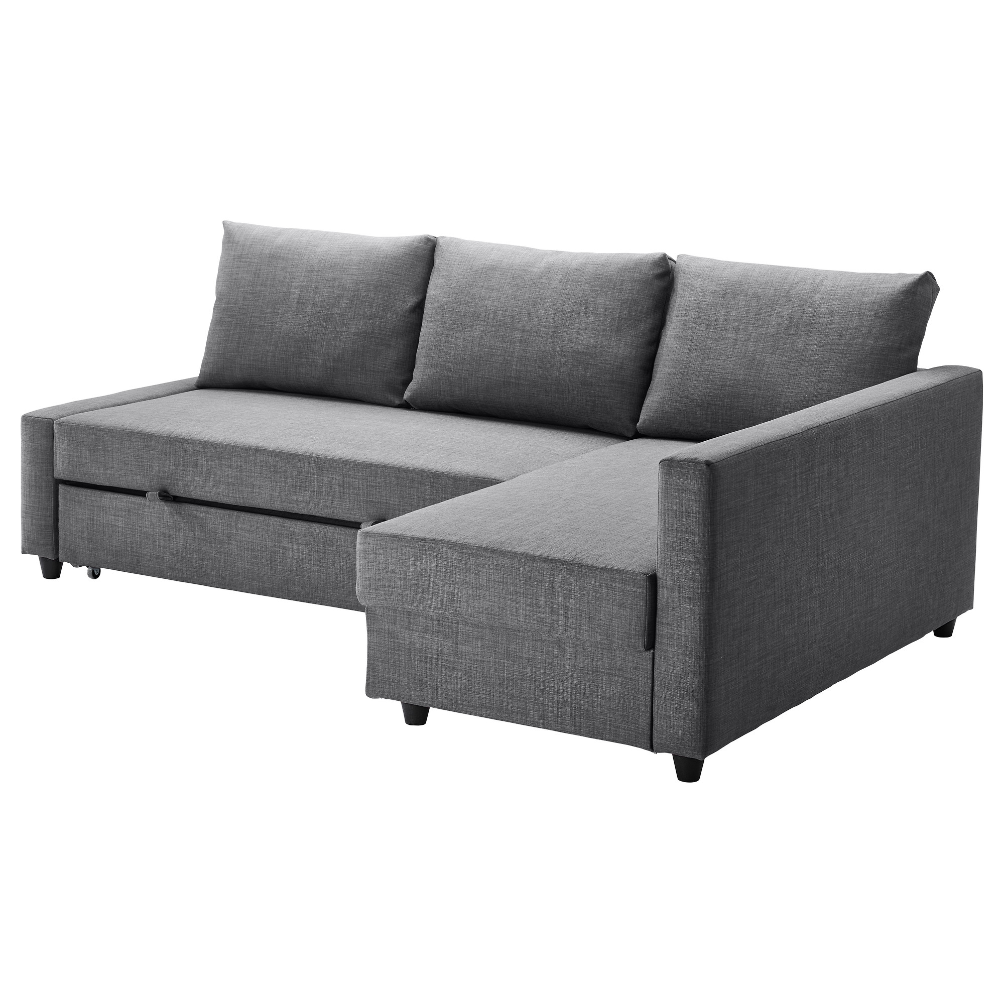 FRIHETEN corner sofa-bed with chaise longue, SKIFTEBO dark grey