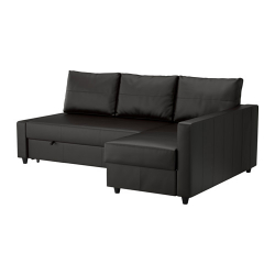 FRIHETEN Sofá cama esquina dcha/izda BOMSTAD negro