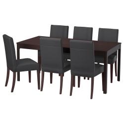 EKEDALEN/HENRIKSDAL Mesa y 6 sillas