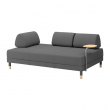 FLOTTEBO Sofá cama 3 pl con mesa aux, LYSED gris oscuro