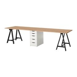 GERTON Mesa de escritorio 310x75 cm con cajonera