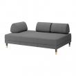FLOTTEBO Sofá cama 3 plazas, LYSED gris oscuro