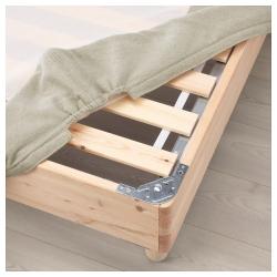 ESPEVÄR Base para colchón 140 con patas BÅTSFJORD 20cm, funda beige
