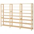 IVAR Estructura almacenaje 259x30x179 cm con estantes