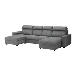 LIDHULT Sofá 4 plazas con divanes