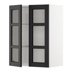 METOD Armario de pared puertas de vidrio