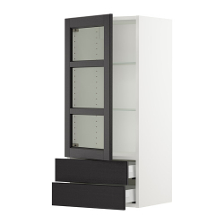 SEKTION Armario pared prt vidrio/2 gavetas