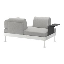 DELAKTIG Sofá 2 con mesa auxiliar