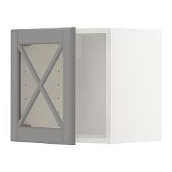 METOD Armario de pared con vitrina