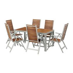 SJÄLLAND Mesa+6 sillas reclinables, ext