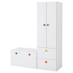 STUVA/FÖLJA Combinación almacenaje+banco