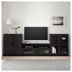 BRIMNES Mueble TV con almacenaje