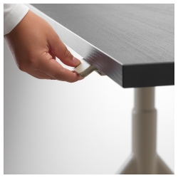 IDÅSEN Escritorio profesional sentado/de pie 120x70 cm negro/beige