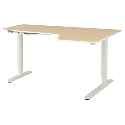 BEKANT Corner desk right sit/stand
