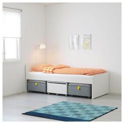 SLÄKT Estructura de cama TWIN + almacenaje
