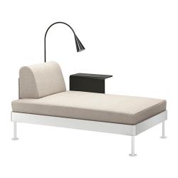 DELAKTIG Chaise longue+mesa aux+lámpara