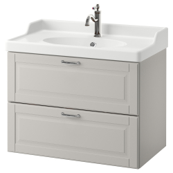 GODMORGON/RÄTTVIKEN Armario lavabo 2 cajones