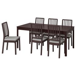 EKEDALEN/EKEDALEN Mesa y 6 sillas