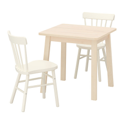 NORRÅKER/NORRARYD Mesa y dos sillas