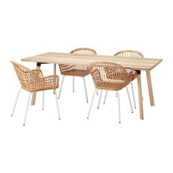 YPPERLIG/NILSOVE Mesa con 4 sillas