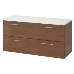 GODMORGON/TOLKEN Armario para baños 4 gavetas