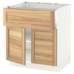 SEKTION/MAXIMERA Base cab f hob/drawer/shelves/2 drs