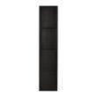 PAX HEMNES Puerta 50x229cm negro-marrón + bisagras