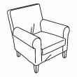 EKTORP JENNYLUND Estructura de sillón