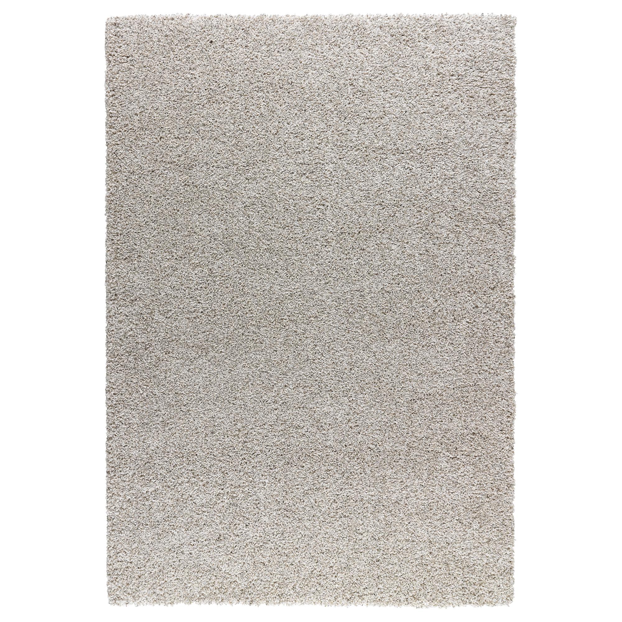 Alhede alfombra pelo largo 160x240 hueso - Antideslizante alfombras ikea ...