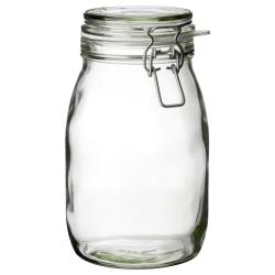 KORKEN Recipiente vidrio con tapa, 1.8lt