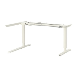 BEKANT Underframe sit/stand crnr table, el