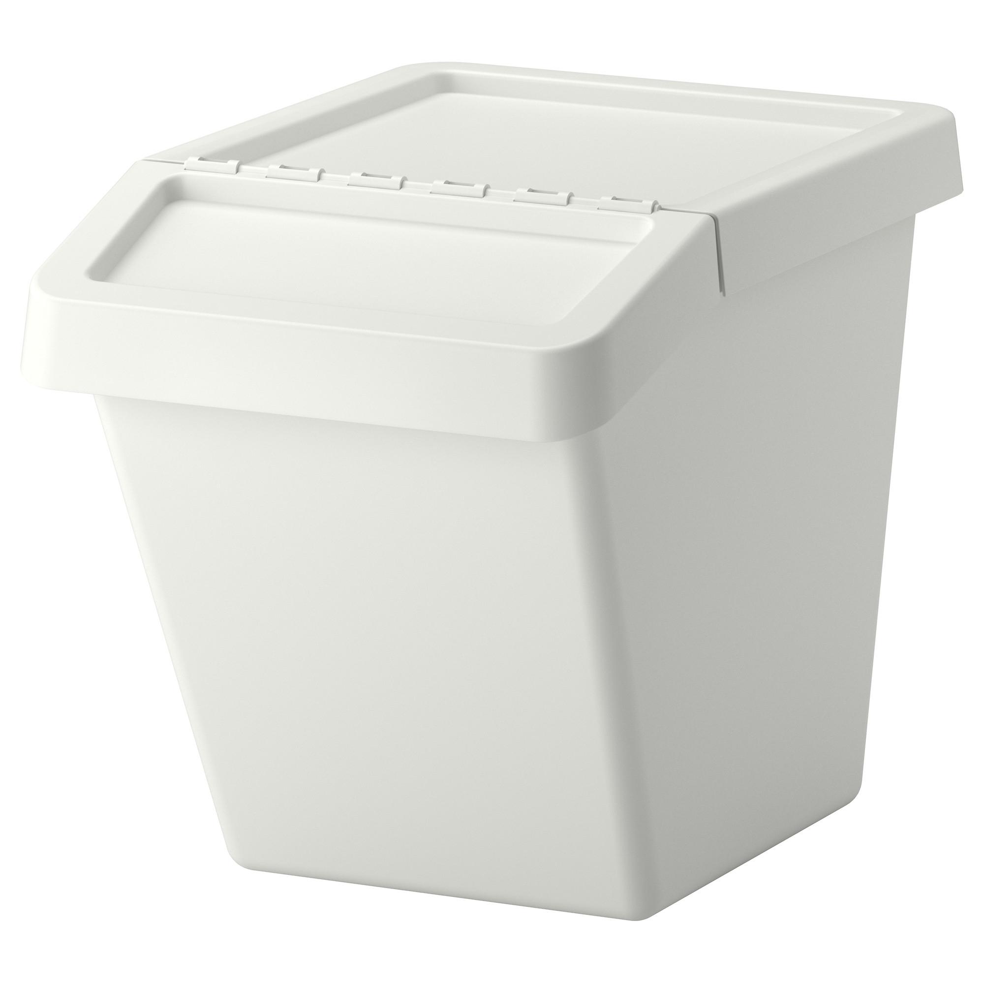 Sortera cubo de reciclaje con tapa for Cubos de reciclaje ikea