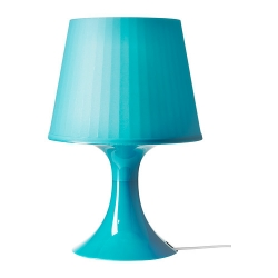 LAMPAN Lámpara de mesa turquesa