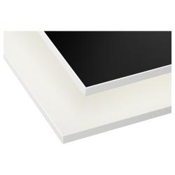 GOTTSKÄR Encimera, 2 lados, blanco, negro con borde blanco