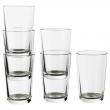 IKEA 365+ Juego de 6 vasos de vidrio templado, 30cl