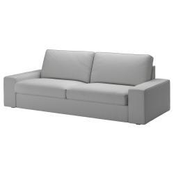 1 x KIVIK Funda sofá 3 plazas ORRSTA gris claro