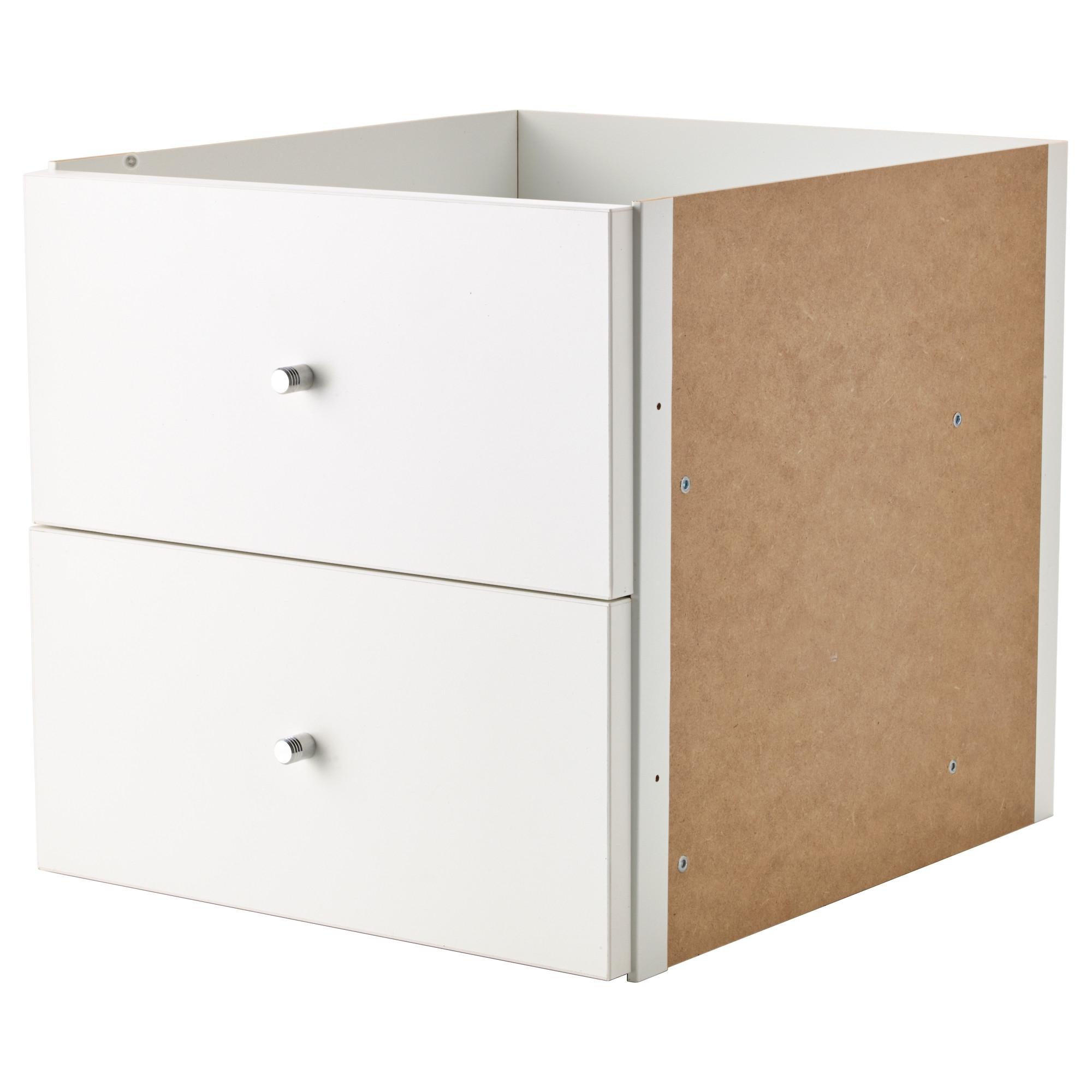 Kallax accesorio con 2 cajones blanco - Accesorios kallax ...
