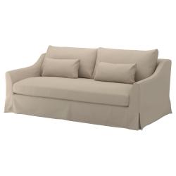 1 x FÄRLÖV Funda sofá 3 plazas FLODAFORS beige