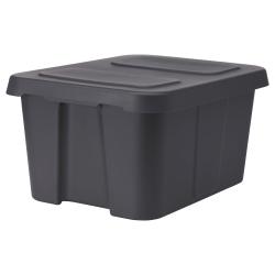 KLÄMTARE Caja con tapa, interior/exterior