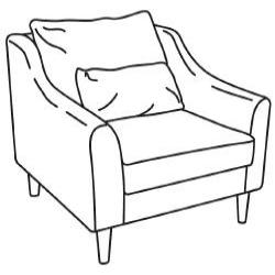 1 x FÄRLÖV Estructura de sillón