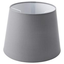 JÄRA Pantalla para lámpara gris 25 cm