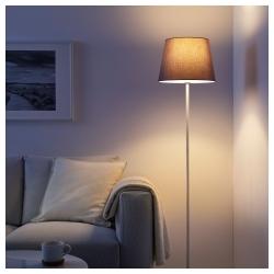 JÄRA Pantalla para lámpara gris 33 cm