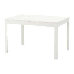 EKEDALEN Mesa extensible 120/180x75 cm blanco